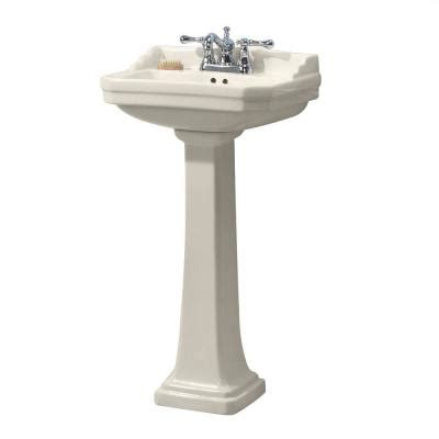 Foremost Series 1920 Pedestal Sink foremost series 1920 vitreous china pedestal sink combo in