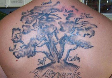 23 elegant family tree tattoos creativefan