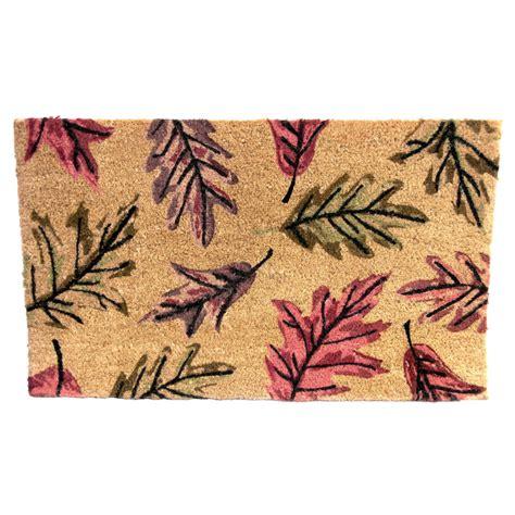 Patterned Doormat Leaf Patterned Coir Doormat 163 9 99 At Garden4less Uk