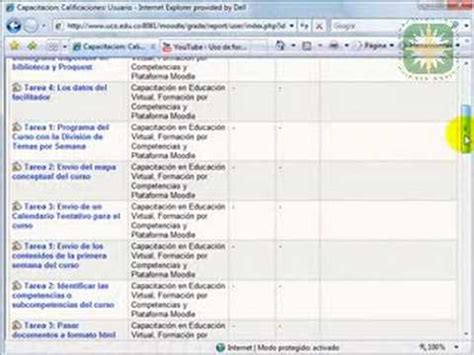 ver calificaciones ver calificaciones en moodle youtube