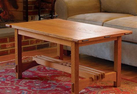 coffee table puts joinery  display finewoodworking