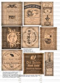 potion bottle halloween witch labels digital download