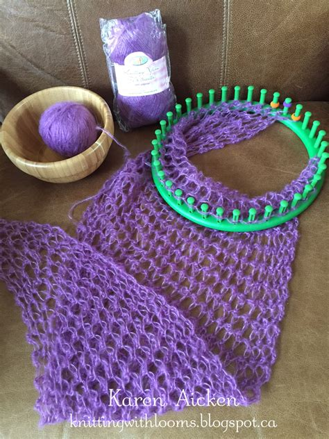 Knitting With Looms Smaller Pagosa Springs Scarf Wip