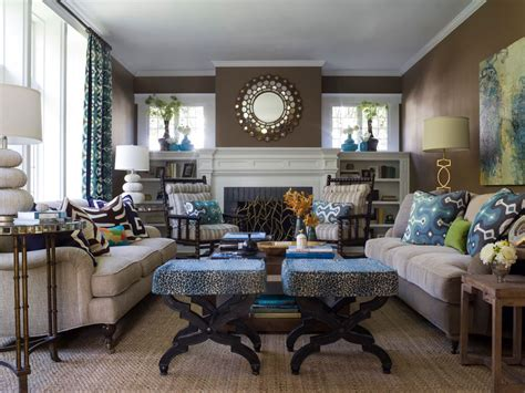 Blue And Brown Decor by 20 Blue And Brown Living Room Designs Decorating Ideas