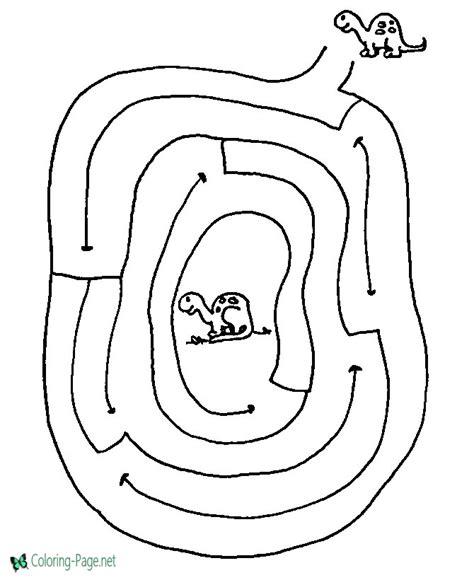 printable html page printable mazes dinosaur maze