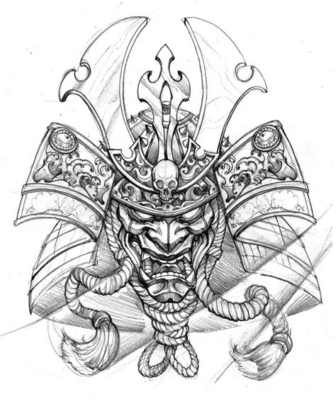 samurai helmet tattoo designs matching with gaby art3 irezumi