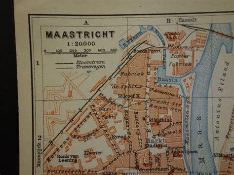 netherlands map maastricht antique map of maastricht original 1910 city