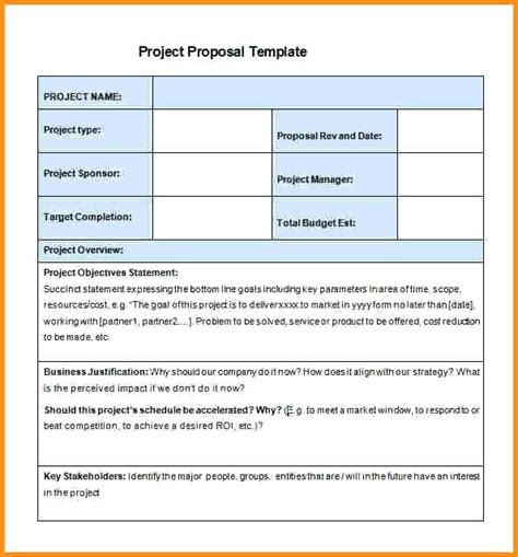 proposal justification format project justification contents 3 the business case