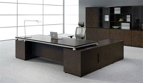 office tables modern sirius office table with side cabinet boss s cabin