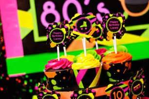Neon 80 s skate themed birthday party via kara s party ideas