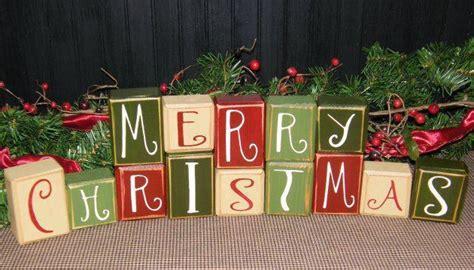 merry christmas blocks holidays pinterest