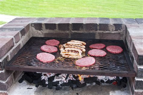 Backyard Grill Gas Charcoal How To Build A Charcoal Grill Out Of Bricks Ebay