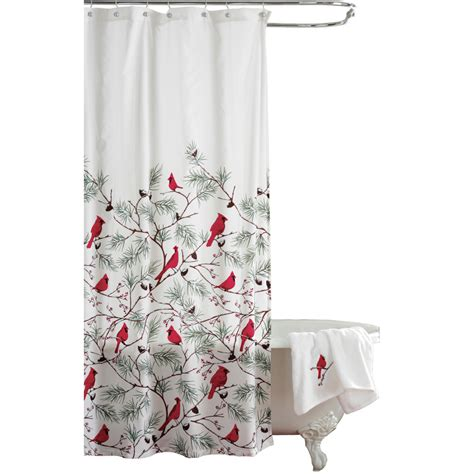 shower curtain collections cardinal holiday shower curtain by collections etc
