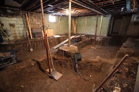 basement foundations construction basement underpinning toronto concretepros
