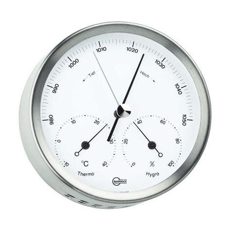 Analog Hygrometer White Large barigo weather station with analog barometer thermometer and hygrometer lapadd