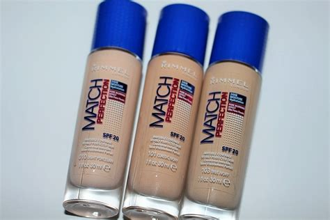 Rimmel Match Perfection rimmel new match perfection foundation review swatches