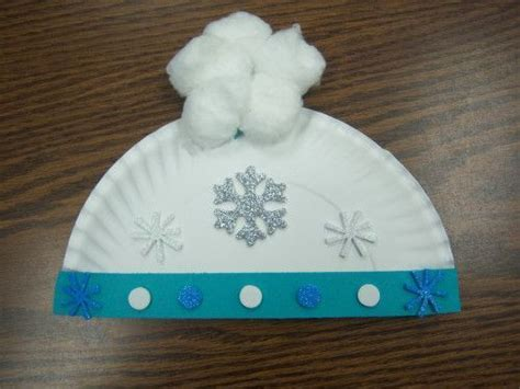 january crafts paper plate winter hats craft for toddlers and preschool