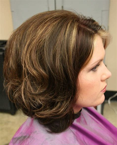 long layered stacked bob long layered stacked bob haircut for curly wavy hair