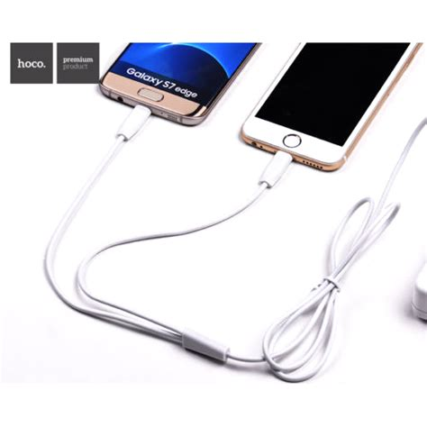 hoco x1 lightning charging cable 1m for iphoneipad white 1 hoco x1 2 in 1 lightning and micro usb charging cable 1m