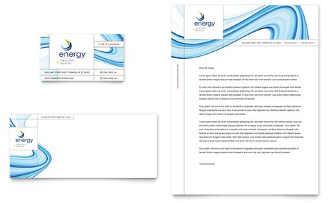 business consultancy letterhead template renewable energy consulting business card letterhead