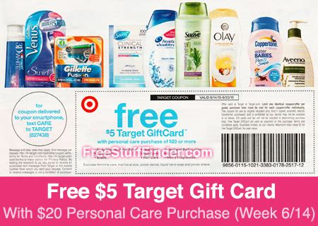 Free Target Gift Card With Purchase - free 5 gift card with 20 personal care purchase at target week 6 14