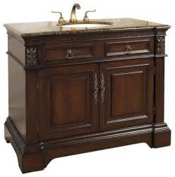 42 Inch Bathroom Vanity 42 Inch Traditional Single Sink Bathroom Vanity