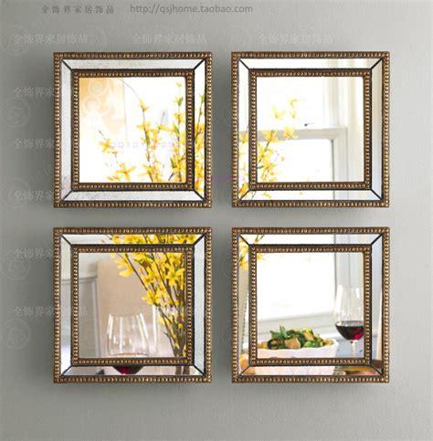 decorative wall mirror sets aliexpress buy mirrored wall decor fretwork square