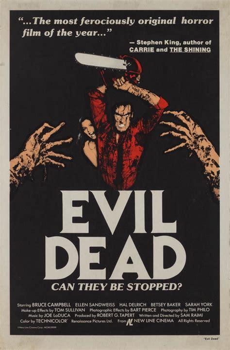 english film evil dead part 1 marquee poster evil dead 1981 us 1 sheet