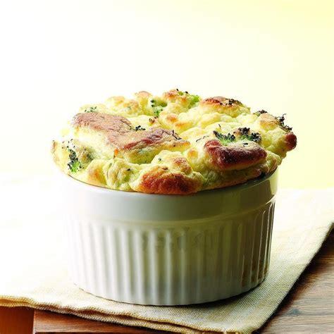cheddar souffle broccoli goat cheese souffle recipe eatingwell