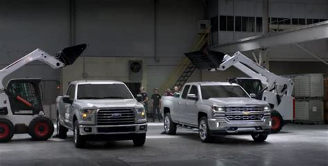 Ford Truck Vs Chevy by Chevy Literally Pokes Holes In Ford S F 150 Aluminum Truck