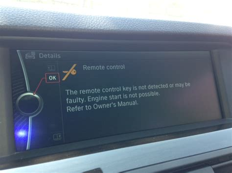comfort access bmw not working anyone having problems with the remote not detected
