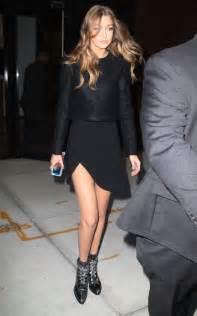 Gigi Hadid Dress Gigi Hadid In Black Dress 11 Gotceleb