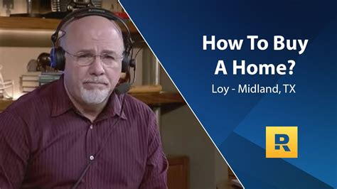 buying a house dave ramsey how to buy a home youtube