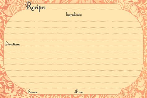 Recipe Card Template by Crafts Ideas Printables Recipe Cards Printable Recipe