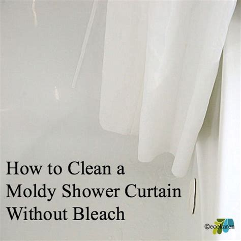 how to clean moldy shower curtain without bleach hometalk