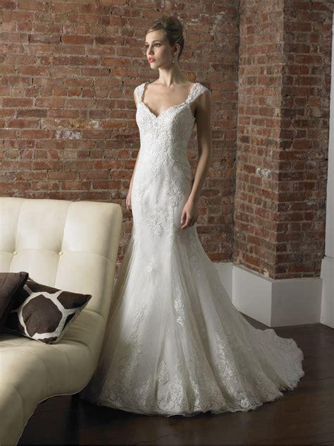 a line cap sleeve wedding dress luxury brides