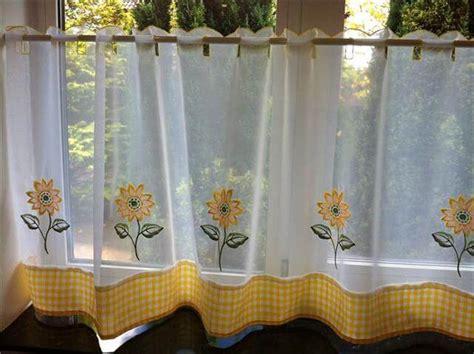 sunflower kitchen curtain 11 diy sunflower kitchen decor ideas diy to make