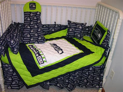 Seahawks Bed Set by Crib Bedding Set M W Seattle Seahawks Fabric