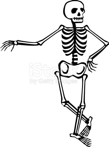 skeleton clipart skeleton casual stock vector more images of