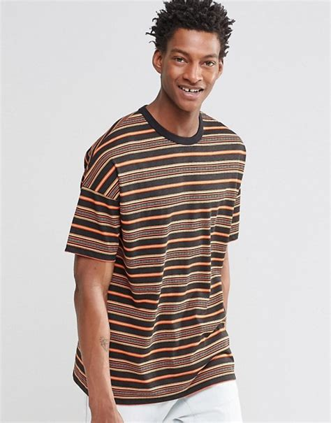 Asos Oversized Stripe T Shirt asos asos oversized t shirt in retro stripe