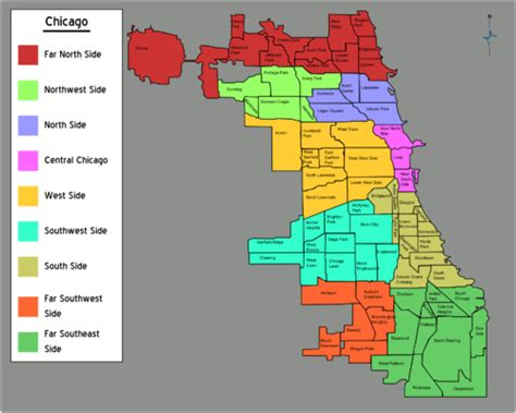 chicago neighborhood map with streets talk chicago districts discussion travel guide at wikivoyage