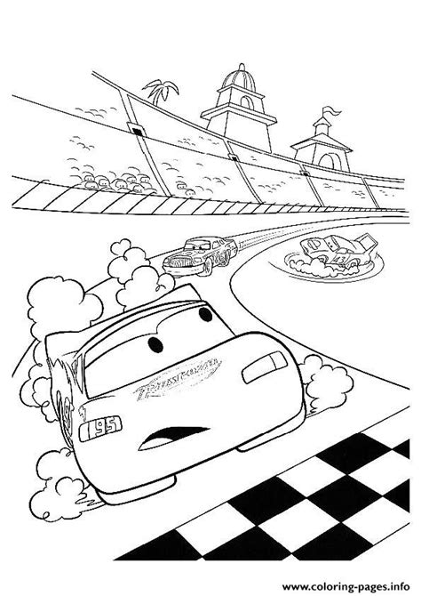 disney coloring pages a4 cars lightning mcqueen in racing a4 disney coloring pages