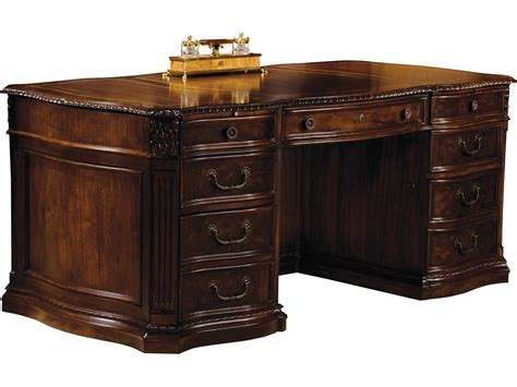 Hekman Office 72 X 36 Executive Desk In Old World Walnut Executive Desk