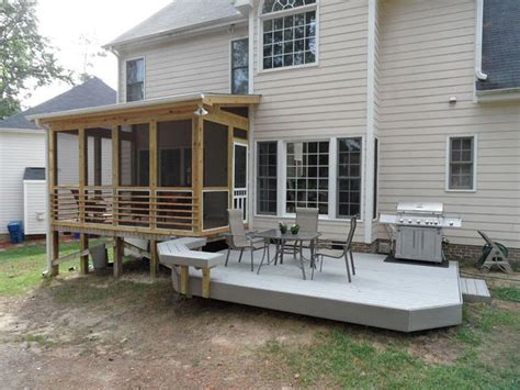 screened in deck for more comfortable outdoor resting