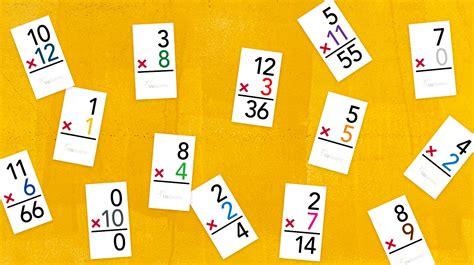 Multiplication Flash Cards Printable