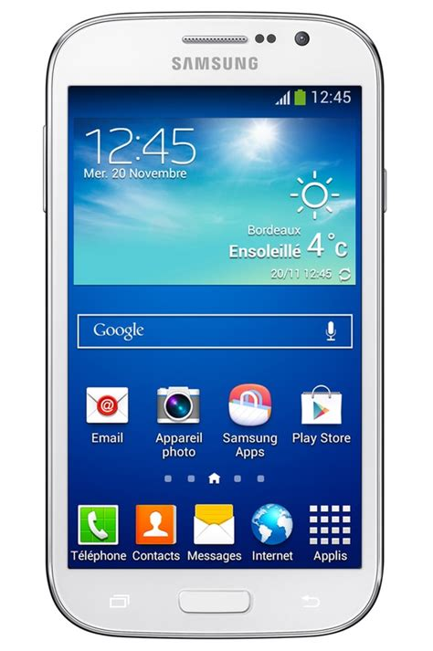 mobile telephone smartphone samsung galaxy grand plus blanc 4077091 darty