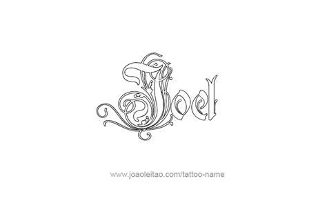 tattoo name joel joel prophet name tattoo designs page 4 of 5 tattoos