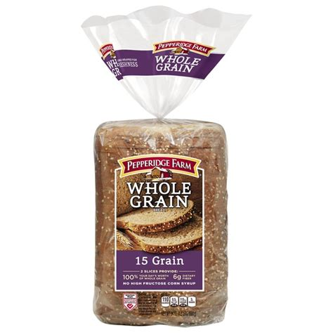 whole grains bakery pepperidge farm fresh bakery whole grain 15 grain bread