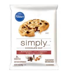Pillsbury simply chocolate chip cookie dough review