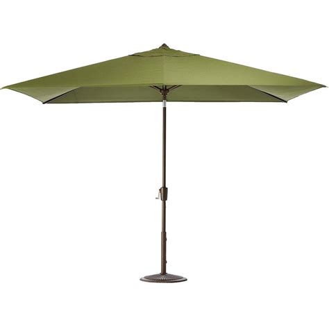 Patio Umbrella Frame Home Decorators Collection 6 5 Ft Aluminum Auto Tilt Patio Umbrella In Cilantro With Bronze
